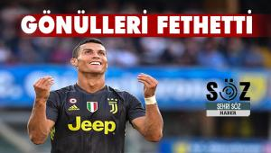 Cristiano Ronaldo gönülleri fethetti