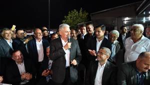 Yıldırım Harem Otogarı'nda Şoförler ile sahur yaptı