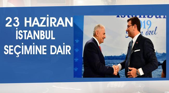 İstanbul seçiminin ardından..