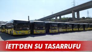 İETT'DEN SU TASARRUFU