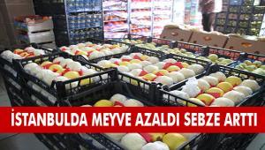 İSTANBUL'A GELEN MEYVE AZALDI, SEBZE ARTTI