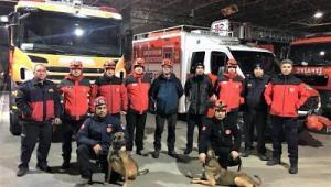 İtfaiyenin arama köpekleri hayat kurtarıyor