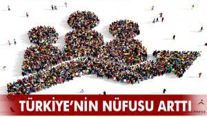 TÜRKİYE NÜFUSU 83 MİLYON'UN ÜZERİNE ÇIKTI