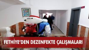 Fethiye Belediyesi Dezenfekte Çalışmalarına Devam Ediyor