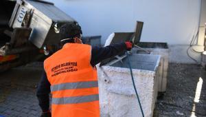 Fethiye Belediyesi şehrin tamamında dezenfekte çalışmalarına devam ediyor