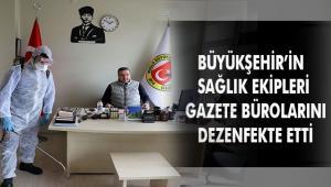 Muğla'daki Gazete Büroları Dezenfekte Edildi