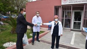 Büyükşehir'den Sağlık Çalışanlarına Maske Desteği