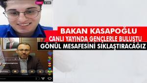 """Gençlik ve Spor Bakanı Kasapoğlu, gençlere seslendi: """"Gönüllülük halkasını genişletelim"""""""