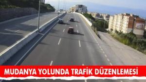 MUDANYA YOLUNDA TRAFİK DÜZENLEMESİ