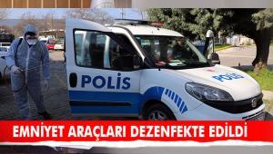 Muğla'da Emniyet Araçları Dezenfekte Edildi