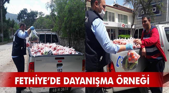 9 Ton Sebze Vatandaşlara Dağıtıldı