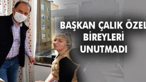 """BAŞKAN ÇALIK """"ENGELLİLER HAFTASI'NDA"""" ÖZEL BİREYLERLE BULUŞTU"""