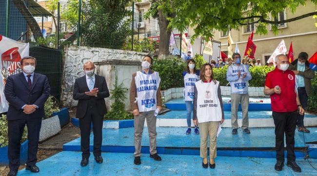 İzmir'de 114 yıl sonra aynı yerde 1 Mayıs kutlandı