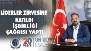 Çiğli Belediye Başkanı Utku Gümrükçü, Birleşmiş Milletler 2020 Liderler Zirvesi'ne Katıldı