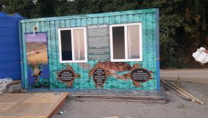 Karaot Halk Plajı'na Caretta Caretta Gözlem Evi