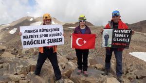 Dağcılarımız, Süphan Dağı'nın Zirvesinde Bayramı Kutladı
