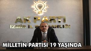 İzmir İl Başkanı Kerem Ali Sürekli'den AK Parti'nin 19. kuruluş yıl dönümü mesajı