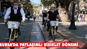 Bursa Büyükşehir Belediyesi paylaşımlı bisiklet sistemini kurdu