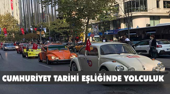 "CUMHURİYET'İN 97. YILINA ""KLASİK OTOMOBİLLER"" DAMGA VURDU"