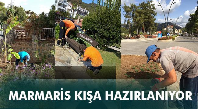 Marmaris'te kışlık bitkilerin dikimine başlandı