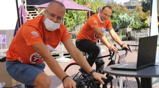 Pedallar, 'Korona Kahramanlarına Vefa Fonu'na destek olmak için çevrildi