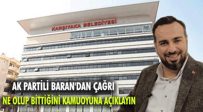 AK PARTİLİ BARAN'DAN CEMİL TUGAY'A KENT A.Ş ÇAĞRISI