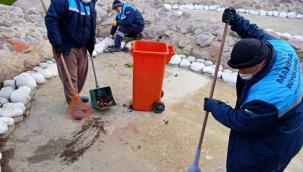 Fatih Parkı'ndaki Süs Havuzu Temizlendi
