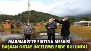 MARMARİS BELEDİYESİ'NİN FIRTINA MESAİSİ