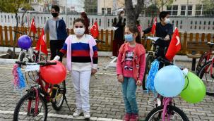 Menteşeoğlu'nda bisiklet sevinci