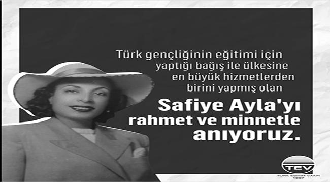 Türk Eğitim Vakfı Safiye Ayla'yı dijital ortamda düzenlediği etkinlikle andı