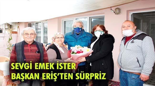Başkan Eriş'ten Sevgililer Günü sürprizi