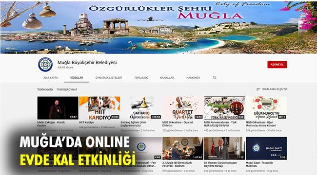 """Büyükşehirden Online """"EVDE KAL"""" Etkinlikleri"""