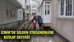 SELDEN ETKİLENENLERE KIZILAY DESTEĞİ