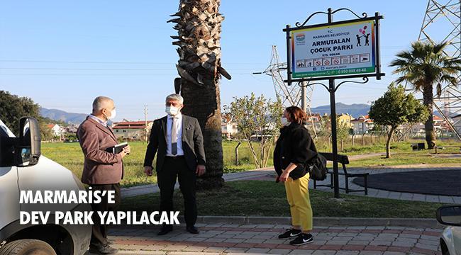Marmaris'in en büyük parkı olacak