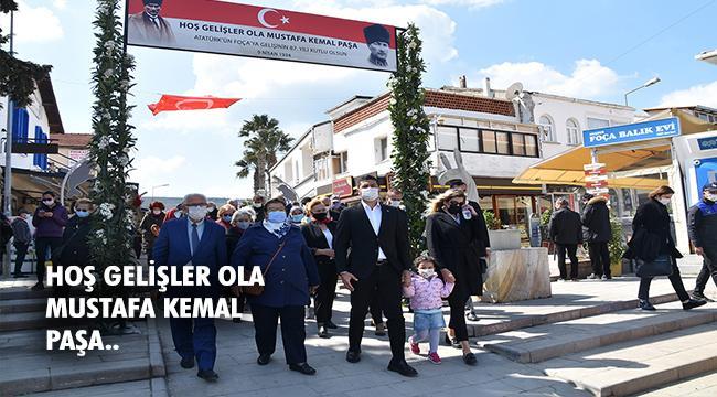 ATATÜRK'ÜN FOÇA'YA GELİŞİNİN 87. YILI ANILDI