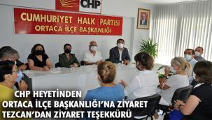 CHP Heyetinden Ortaca İlçe Başkanı Tezcan'a ziyaret