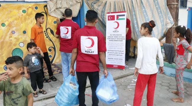 Türk Kızılay Filistin'de yaraları sarıyor