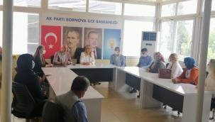 AK Parti İzmir Milletvekili Çankırı, Bornova teşkilatı ile buluştu
