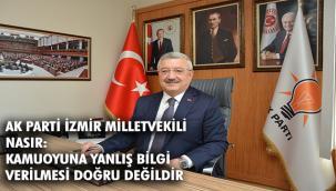 AK Parti İzmir Milletvekili Necip Nasır: ''Deprem gibi hayati meseleler siyaset üstüdür''