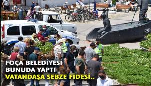 Foça Belediyesi, vatandaşlara 80 Bin sebze fidesi dağıttı…