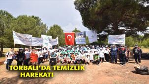 Torbalı'da vatandaşlar belediyeyle el ele 20 ton çöp topladı