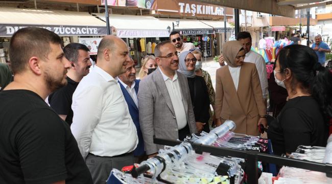 AK Parti İzmir; 42 derecede Kemalpaşa sokaklarında!
