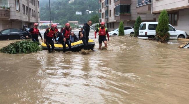 AKUT Basın Açıklaması: Arhavi sel felaketinde 576 kişi ve 4 köpek tahliye edildi.