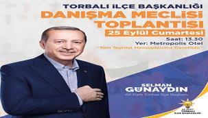 Torbalı AK Parti'den 'Genişletilmiş İlçe Danışma Meclisi' toplantısı