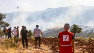 Tunceli'deki Orman Yangınlarına Kızılay Yardımı