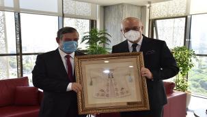 Başkan Ergün, Kaymakam Çaykara'yı Konuk Etti